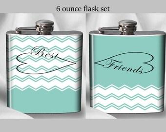 SALE! Best Friends Flask Set - Infinity- Birthday Gift