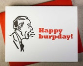 Letterpress Happy Burpday! birthday card (#MIS023)