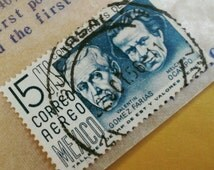 Mid Century Postage Stamp from Mexico Featuring Gomez Farias and Ocampo
