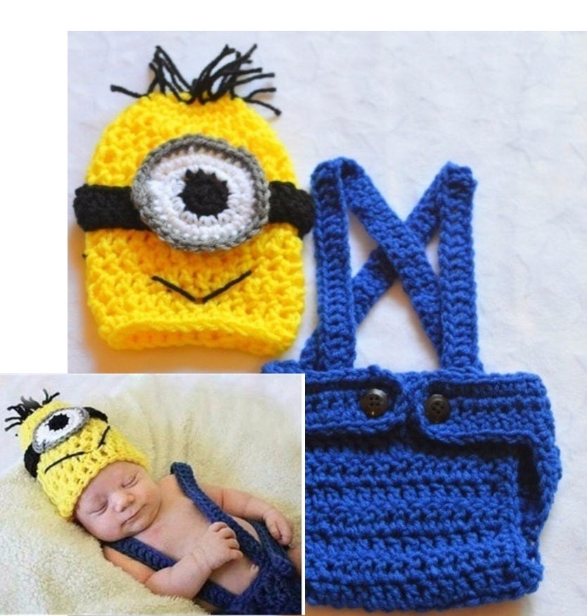 Baby Boy Minion Outfit Crochet Minion Outfit by ChildishDreams
