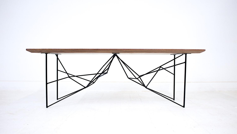 Coffee table geometric mid century modern powder by for Geometric coffee table