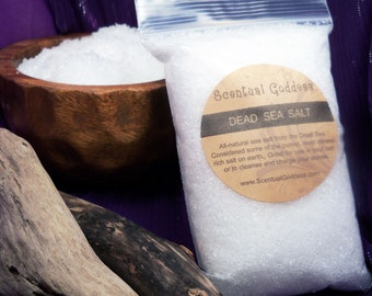 Dead Sea Salt Detox Bath Salts - Unscented All-Natural Salt From the Dead Sea - The best on earth!  Premium Luxury Detox Bath Salts