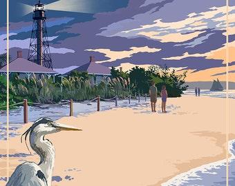 Sanibel Lighthouse - Sanibel, Florida (Art Prints available in multiple sizes)