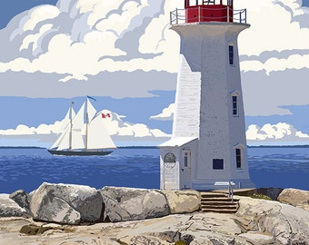 Peggy's Cove Lighthouse - Nova Scotia (Art Prints available in multiple sizes)