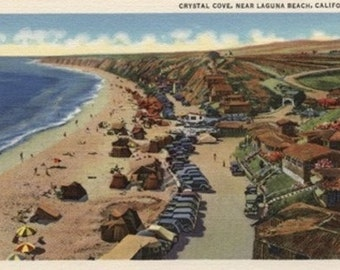 Aerial of Crystal Cove (Art Prints available in multiple sizes)
