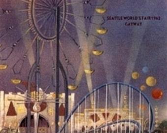 Seattle, Washington - 1962 World's Fair Poster (Art Prints available in multiple sizes)