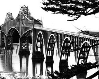 Coos Bay Bridge Photograph (Art Prints available in multiple sizes)