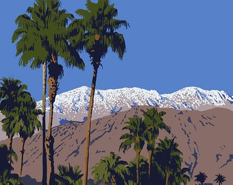 Rancho Las Palmas, California - Golfing Scene (Art Prints available in multiple sizes)