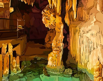 Luray Caverns, Virginia - Wishing Well (Art Prints available in multiple sizes)