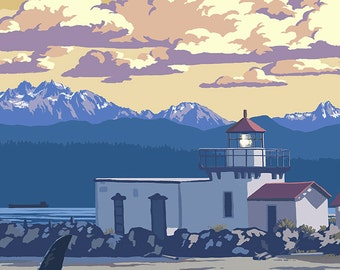 Point No Point Lighthouse - Hansville, WA (Art Prints available in multiple sizes)