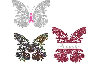 Custom Glitter Butterfly Car Decal