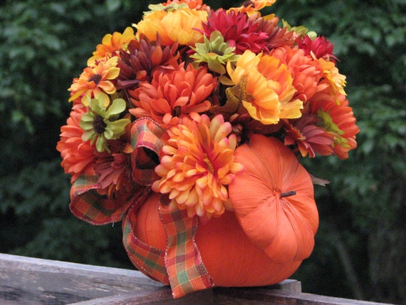 Fall sale price pumpkin centerpiece rustic