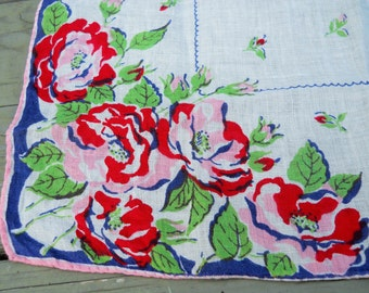 Vintage Roses Ladies Handkerchief
