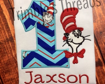 Cat In The Hat Birthday Shirt / Dr. Seuss Birthday Shirt