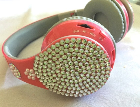 Rhinestone Ear Phones with Bluetooth   Dolce & Gabbana inspired