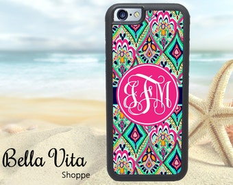 Floral iPhone 5C Case, Personalized iPhone 5C Case, Monogram iPhone 5C Case, Pretty Floral Jewels I5C