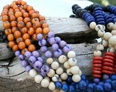 Acai Bead and Tagua Nut Necklace - On Sale - Save 50.00!
