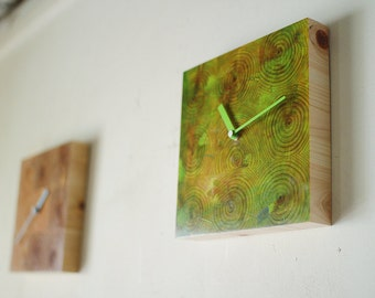 Wall Clock 9'x9' / No.14 / modern wood clock