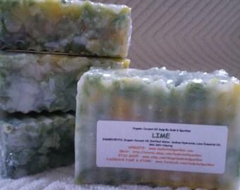 Lime Organic 100% Coconut Oil Soap Bar - 5-6oz. Each