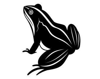 Frog Decal , Frog Sticker - Rainforest Decal - Frog Lover Decal - Auto Frog Sticker