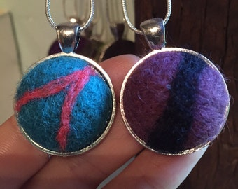 Oil Diffusing Needle Felted Necklace