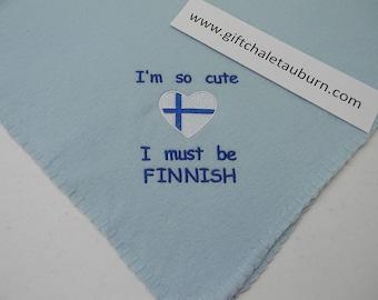 I'm So Cute I must be Swedish Norwegian Finnish Danish Fleece Baby Blanket