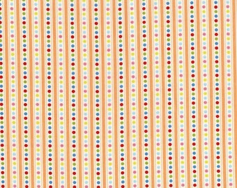 RJR Fabrics Lovebirds 2268 02 Dotted Stripe Cream Yardage by Patrick Lose