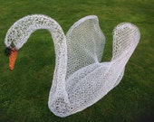 Swan wire sculpture figure