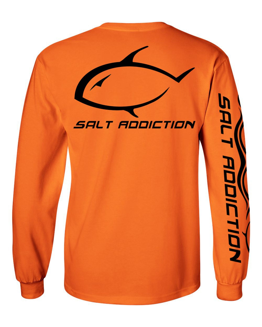Salt addiction logo t shirtpermitsaltwater fishing t for Custom saltwater fishing shirts