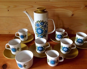 1960s Meakin Studio Pottery Topic Design Coffee set