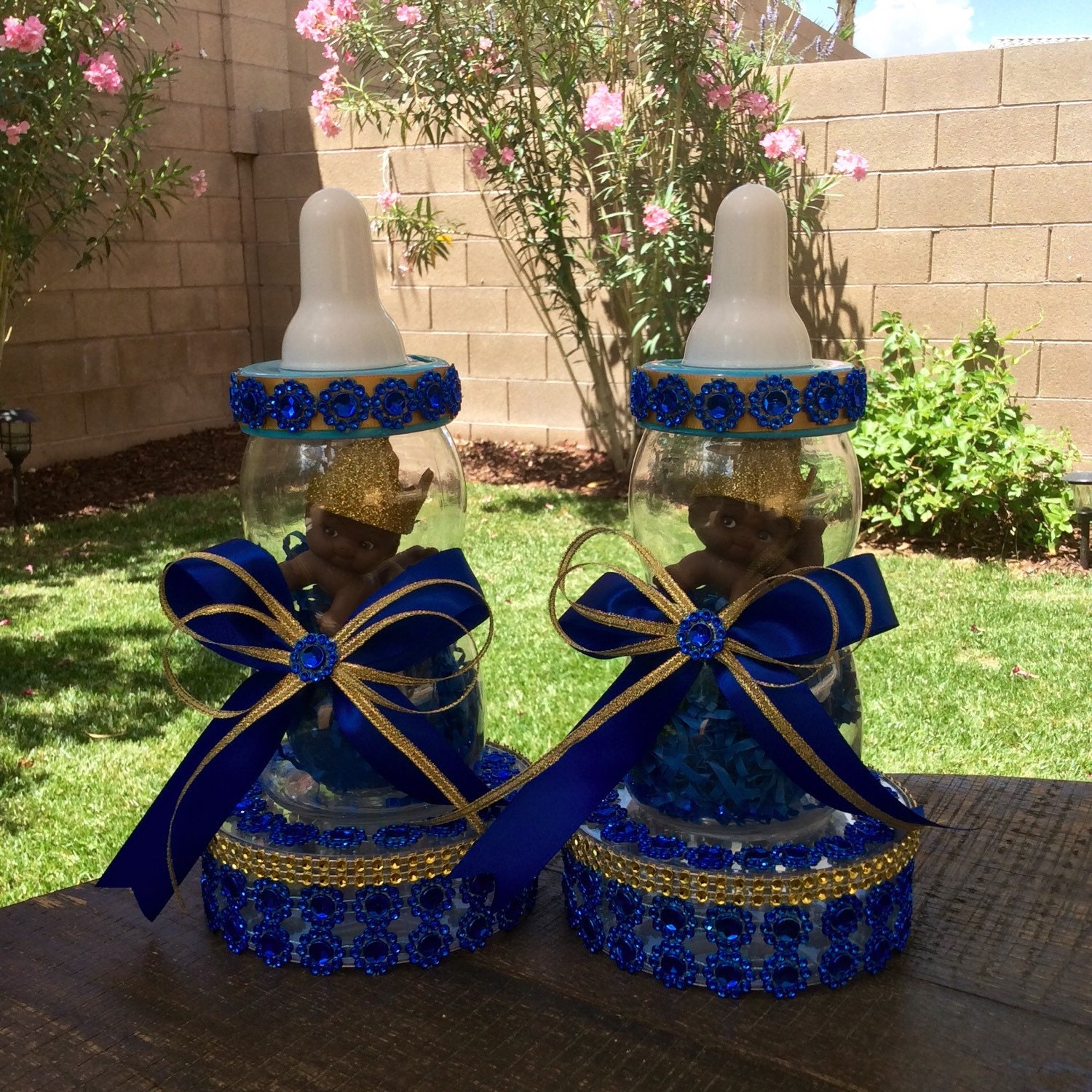 One Royal blue Prince baby shower centerpiece by ...