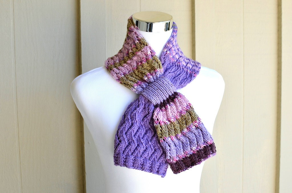 Zig Zag Scarf Knitting Pattern : Knitting pattern only zigzag lace scarf