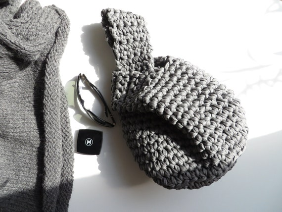 Crochet Japanese Knot Bag Pattern : Items similar to Japanese Knot Bag Crochet Knot Bag T ...