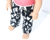 The Chuba Pants in Black Aztec-American Girl Doll