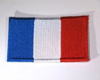 "Iron-on ""France flag"", applique, application (P82)"