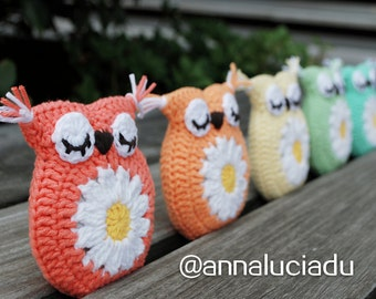 Crochet lavender sachet, avender cushion, rainbow,  crochet owls, crochet owl bag, crochet gifts, PDF Instant Download