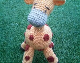 Crochet Giraffe - Riff Raff - Handmade Giraffe Teddy