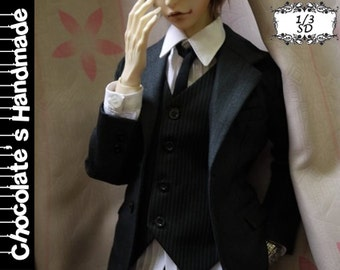 BJD Pattern SD 1/3 suit set with shirt jacket and pants E-Pattern