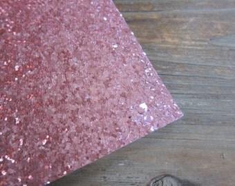 Glitter Material Baby Pink 8X10 sheet