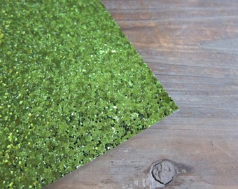Glitter Material Lime Green 8X10 sheet