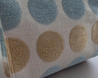 Toiletry Bag, Wash Bag, Cosmetic Bag, Shaving Bag, Travel Storage -Blue & Gold Spotty - The Perfect Travel Accessory!!
