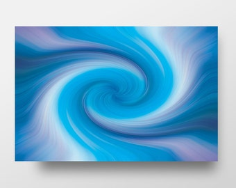 Modern Abstract Metal Art Print, Modern Metal Art Print, Aluminum Abstract Wall Decor, Colorbul Abstract Art – Tidal Wave