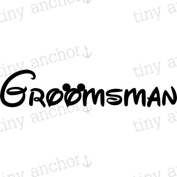 image relating to Mickey Anchor Printable referred to as PRINTABLE Groomsman with Mickey Mouse Ears Disney Family vacation