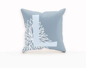 Floral Pillow Cover, Monogram Decorative Pillow, Throw Pillows Floral, Custom Nursery Decor, Decorative Throw Pillows, Throw Pillow Covers,