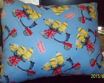 Minions on Scooters Pillow