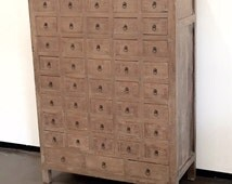 Antique apothecary cabinet with 43 drawers by Terra Nova Furniture Los Angeles