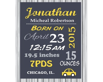 Personalized Birth Announcement