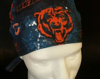 Chicago Bears NFL Football Tie Back Surgical Scrub Hat