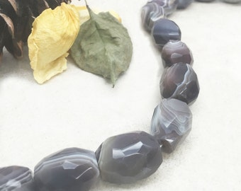 Botswana Agate Nugget Beads