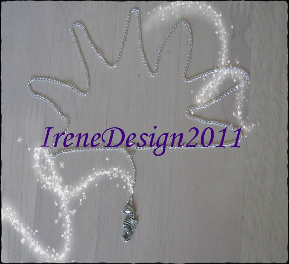 Handmade Silver 925 Necklace with Seahorse by IreneDesign2011